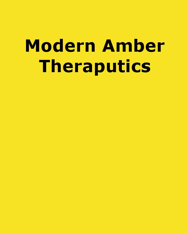 modern amber theraputics
