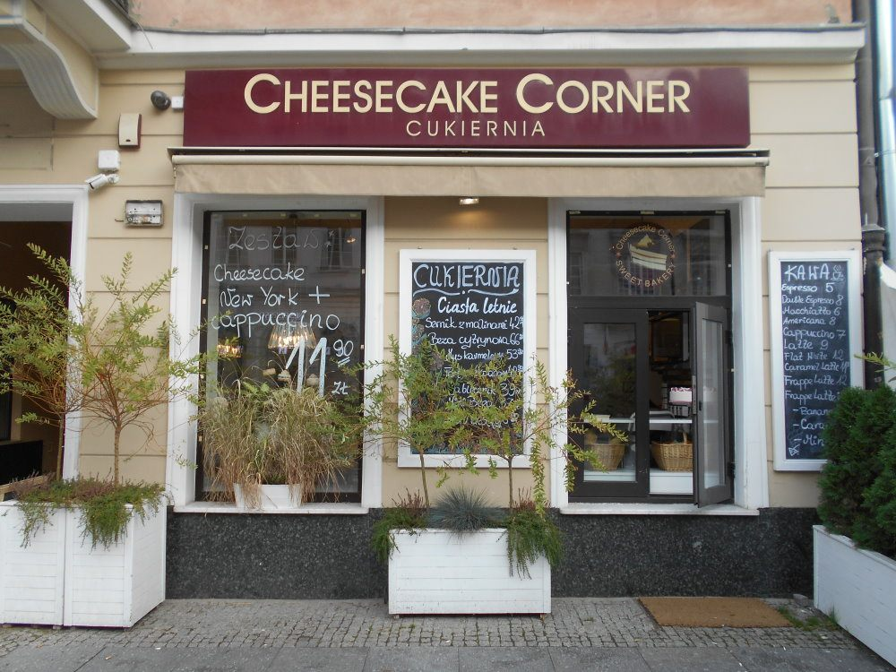 cheesecake corner from Nowy Swiat