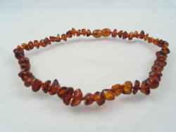baby teething necklace cognac