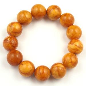 Large Amber Bead Bracelet