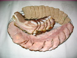 Ham, Baked Bacon Side, Pate
