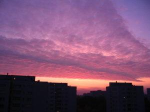 Sunset In Zoliborz